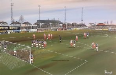 Kidderminster Harriers v West Ham FA Cup 1994 -  A3 approx poster print
